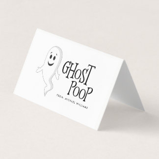 Ghost Poop Halloween Candy Bag Topper Place Card