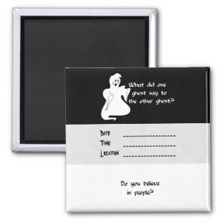 Ghost Question Square Magnet