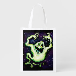 Ghost Reusable Grocery Bag