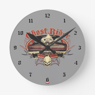 Ghost Rider Badge Round Clock