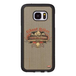Ghost Rider Badge Wood Samsung Galaxy S7 Case