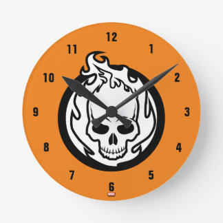 Ghost Rider Icon Round Clock