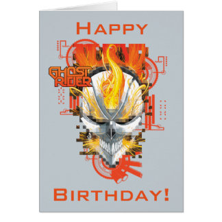 Ghost Rider Skull Badge Card