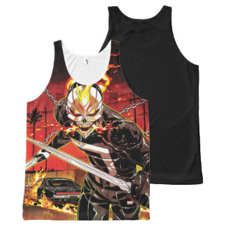 Ghost Rider With Knives All-Over Print Singlet