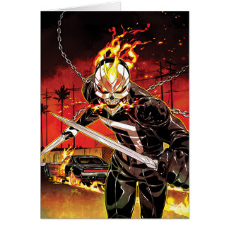 Ghost Rider With Knives Card