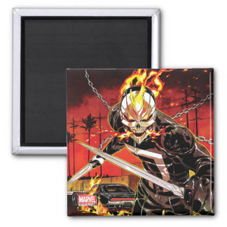 Ghost Rider With Knives Magnet