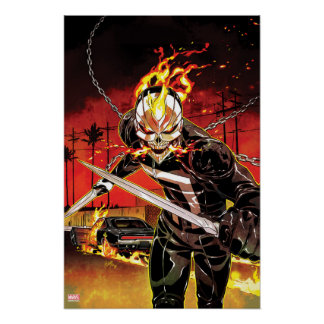 Ghost Rider With Knives Poster