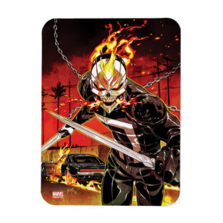 Ghost Rider With Knives Rectangular Photo Magnet