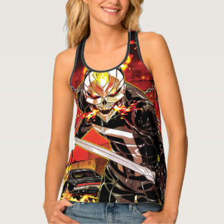 Ghost Rider With Knives Singlet