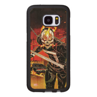 Ghost Rider With Knives Wood Samsung Galaxy S7 Case