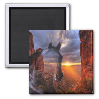 Ghost Riders Square Magnet