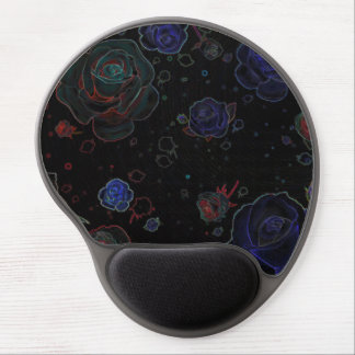 Ghost Roses Black Mouse Pad Gel Gel Mouse Pad