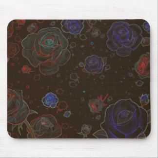 Ghost Roses Brown Mouse Pad Standard Horizontal