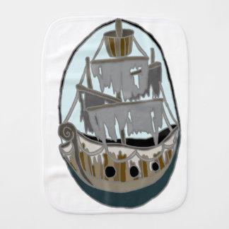 Ghost Ship Burp Cloth