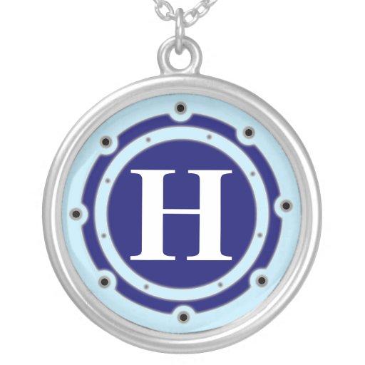 Ghost Ship Port Hole Initial Custom Jewelry