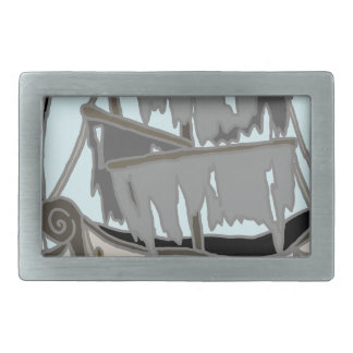 Ghost Ship Rectangular Belt Buckle