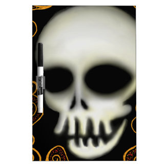 Ghost Skull Dry Erase Board
