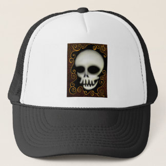 Ghost Skull Trucker Hat