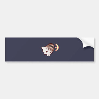 Ghost Sloth Bumper Sticker