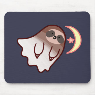 Ghost Sloth Mouse Pad