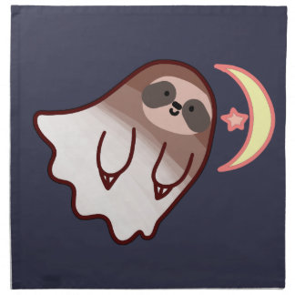 Ghost Sloth Napkin