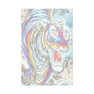 Ghost Tiger Canvas Print 16 x 24