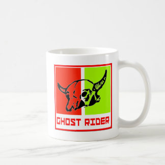 ghost to rider basic white mug