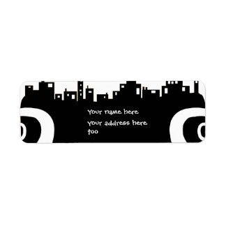 Ghost town Halloween address label