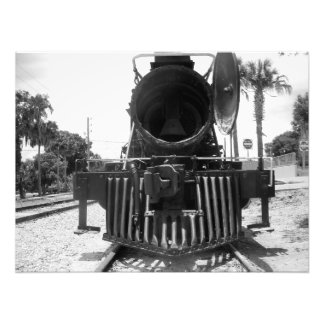 Ghost Train CannonBall Express B&W Vintage Photo