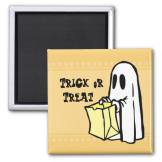 Ghost Trick or Treat Halloween Magnet