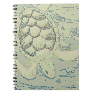 Ghost Turtle Spiral Notebook