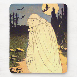 Ghost Witch Bat Moon Spirit Mouse Pad