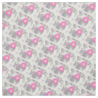 Ghosted pink cactus flower fabric