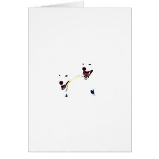 """""""Ghostly Faces"""" Greeting Card"""