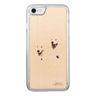 """Ghostly Faces"" Wood Phone Case"