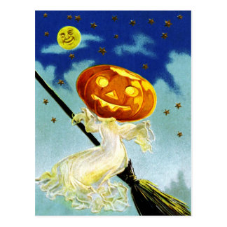 Ghostly Greetings on Halloween! Postcard