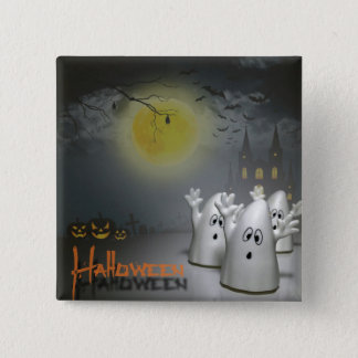 Ghostly Halloween 15 Cm Square Badge