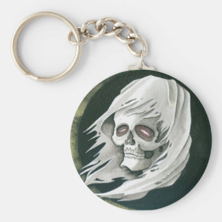Ghostly Reaper Basic Round Button Key Ring