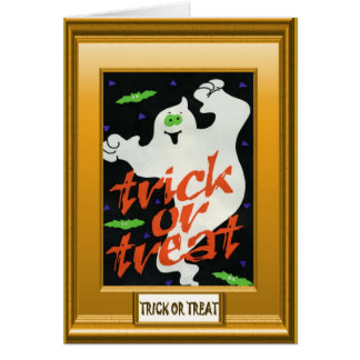 Ghostly Trick or treat Greeting Card