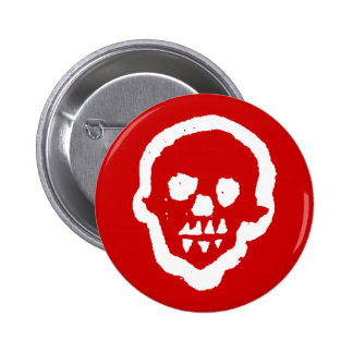 Ghostly Voodoo Skull Button