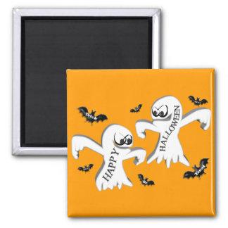 Ghosts and Bats Fridge Magnet