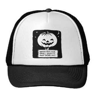 Ghosts and Goblins Black and White Trucker Hat