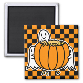 Ghosts and Pumpkin Magnet
