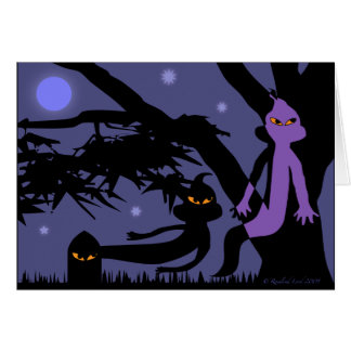 Ghosts and Tombstone Halloween Greeting Card
