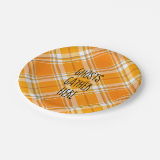 Ghosts Gather Here Halloween Autumn Party Plates