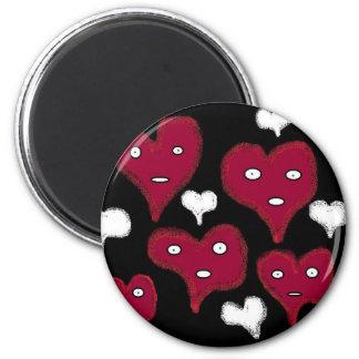 ghosts HEART 6 Cm Round Magnet