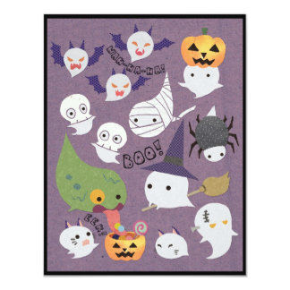 Ghosts in Costumes Halloween Party Invitation Card