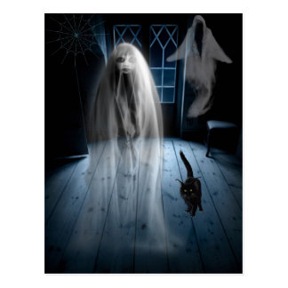 Ghosts In The Attic Postcard