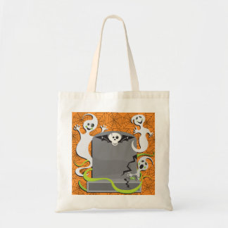 Ghosts On A Tombstone Tote Bag