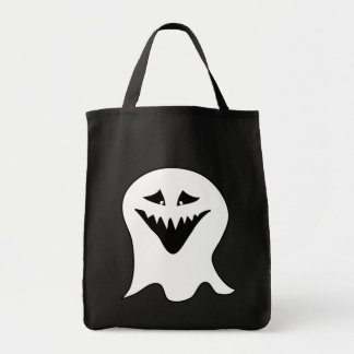 Ghoul. Black and White. Grocery Tote Bag